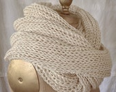 CosPlay Stahma Defiance Halloween Costume Photo Prop Oversized Silk Super Chunky Cowl Hand Knit