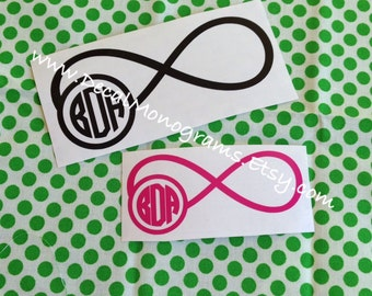 Infinity Monogram Vinyl Decal