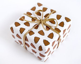 Gag Gift Wrapping Paper - Poop
