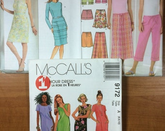 Butterick 4786 Simplicity 4548 McCalls 9172 Lot of 3 Sewing Patterns Sizes 6-8-10-12  Design Your Own dresses skirts shorts capris