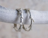Valentines Day Sale Sterling Silver Twig Ring   Stacking Ring   Nature Inspired Ring