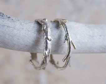 Valentines Day Sale Sterling Silver Twig Ring | Stacking Ring | Nature Inspired Ring