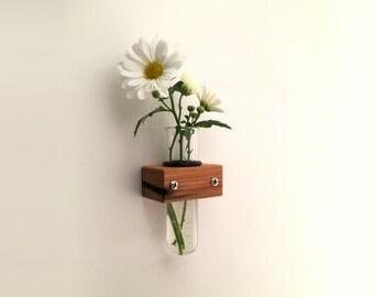 Mini Wall Vase, Test Tube Vase, Small Bud Vase