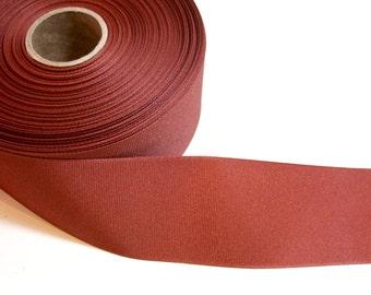 Brown Ribbon, Rust Brown Grosgrain Ribbon 2 1/4 inches wide x 3 yards