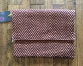 SALE - Burgundy Wine Envelope Clutch - Ready to ship