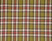 Homespun Fabric   Plaid Fabric   Primitive Cotton Fabric   Quilt Fabric   Home Decor Fabric   Apparel Fabric   Craft Fabric   1 Yard