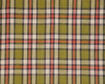 Homespun Fabric | Plaid Fabric | Primitive Cotton Fabric | Quilt Fabric | Home Decor Fabric | Apparel Fabric | Craft Fabric | 1 Yard