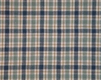 Homespun Material | Medium Plaid Material | Cotton Material | Primitive Material | Rag Quilt Material | Home Decor Material | 1 Yard