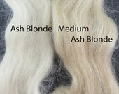 Vintage Mohair for Doll Hair, wigging Miniature Dolls Fairies, 6 inches ash blonde or med ash blond VT043