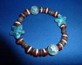 Cloisonne Starfish Bead Bracelet
