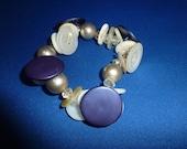 Vintage Button Lover Bracelet