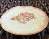 Ceramic Ring Dish Sea Turtle Trinket Dish Decorative Pottery Plate Jewelry Holder