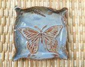 Ceramic Butterfly Dish Trinket Dish