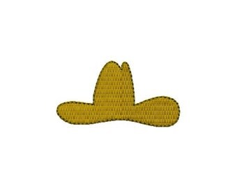 Cowboy Hat Mini Design - Embroidery design - INSTANT DOWNLOAD - jef exp dst sew vip hus pes xxx
