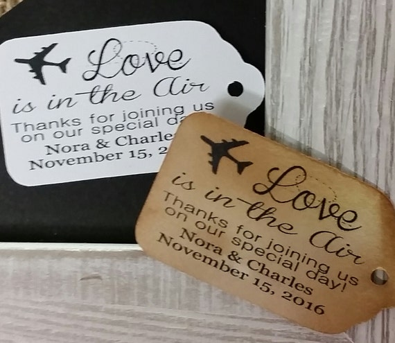 "Love is in the Air Thanks for Joining us Choose your quantity SMALL 2"" Favor Tag"
