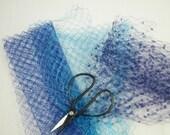 Bolt Ends Vintage Veil Millinery, Fascinators Blue Rayon & Silk