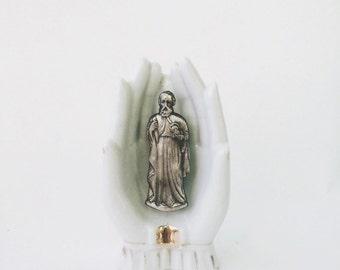 Vintage Saint Jude Stamped Pin Flair