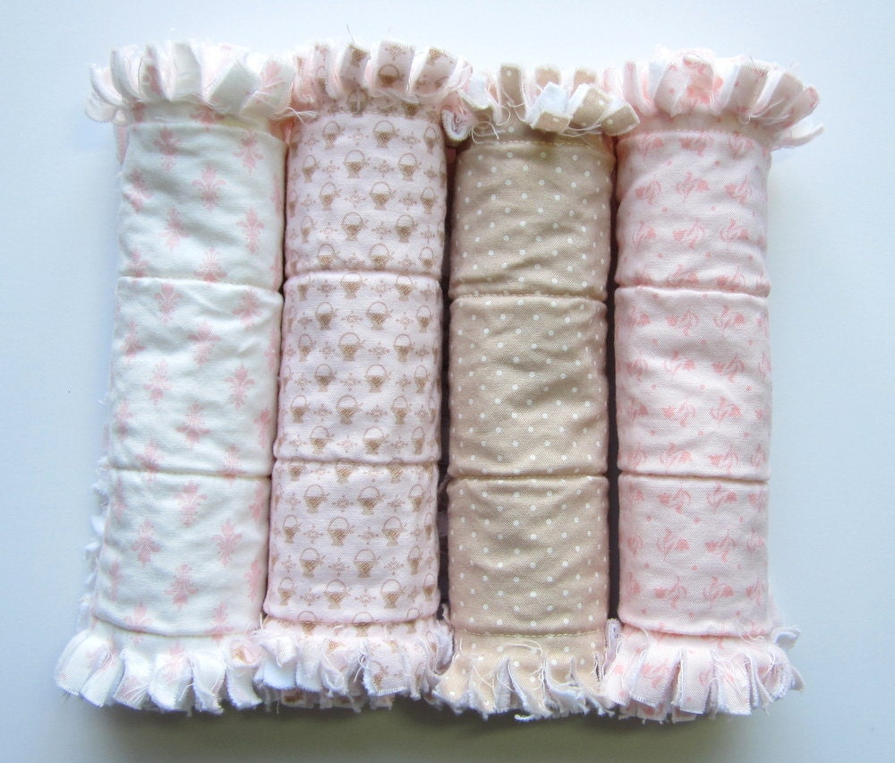 Baby Girl Burp Cloths Burp Cloth Set Baby Gift Set Quilted