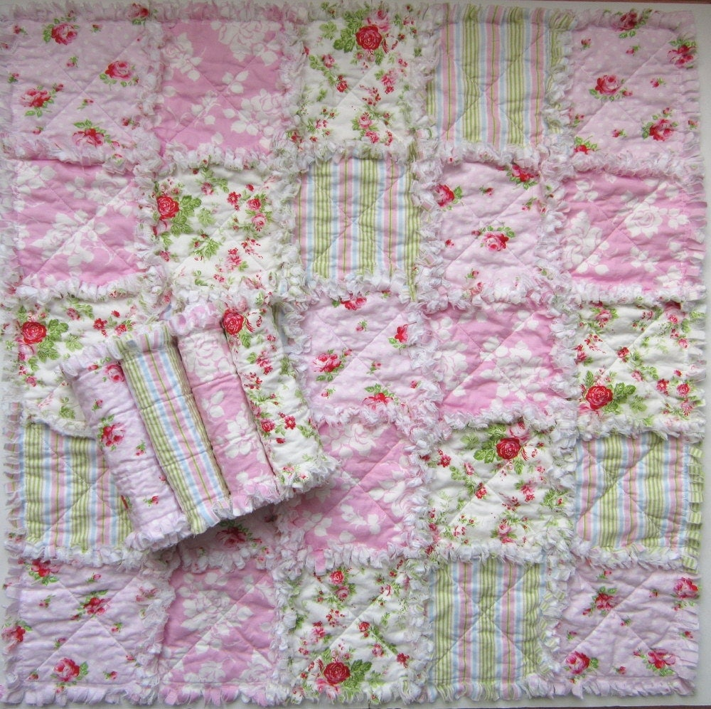 Rag Quilt Pattern For Beginners : Burp Cloth Pattern Baby Rag Quilt Pattern Easy Quilt