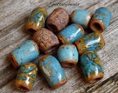 Beads, Dread beads, Handmade beads, Ceramic beads, Beads with 6mm holes, Dreadlock beads, Hair beads
