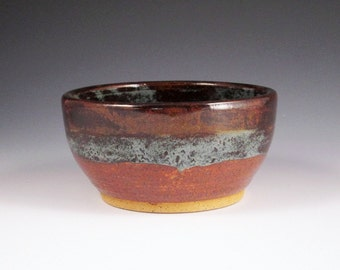 Pottery Small Bowl in Brown and Blue