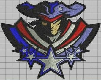Super Patriot Digitized Embroidery Design