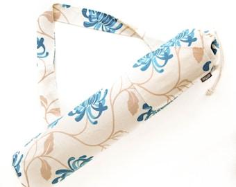 Yoga Bag. Gifts for Friends. Yoga Mat Bag -Turquoise Flowers. Yoga Mat Holder. Yoga Tote Bag. Yoga Gym Bag. Gifts under 50. effie yoga