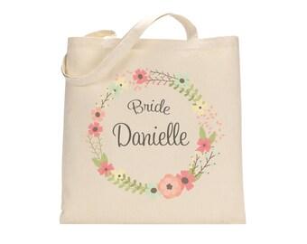 CUSTOM BRIDE TOTE. Bride gift. Personalized Bride Tote. Personalized Wedding totes. Bridal Party Totes. Tote. Bag. Totes. Bags.