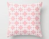 Decorative Pillow Cover Nursery Pillow Pink Pillow 8 Sizes Available Throw Pillow Nursery Decor Soft Pink