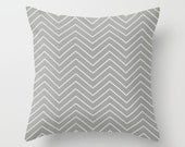 Grey Pillow cover Chevron Pillow Cover Decorative Pillow Cover Couch Pillows Size Choice