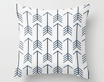 Arrows Pillow Cover Navy Pillow cover Tribal Pillow Accent Pillow Size Choice Accent Pillow