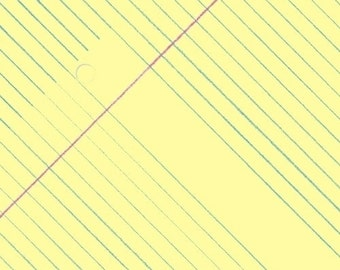 Paper Obsessed Yellow Legal Pad Fabric by Windham