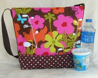 Insulated Lunch Bag in Retro Mod Flower Print