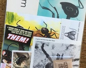 THEM! Giant Ant Vintage Horror Movie Collage, Scrapbook and Planner Kit Number 1953