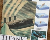 Titanic Ocean Liner Vintage Disaster at Sea Collage, Scrapbook and Planner Kit Number 2126