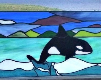 """Stained Glass Windows - """"Whales Tale"""" (W-77)"""