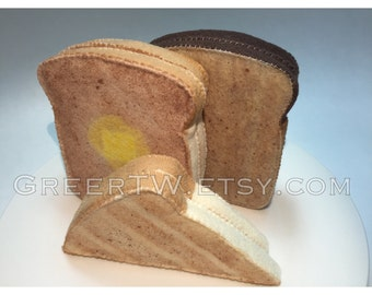 Felt Slice Bread and Toast, Rye bread, Wheat bread, White bread, sandwich bread, Rye toast, white toast, wheat toast
