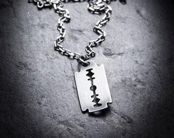 Small Razor Blade necklace