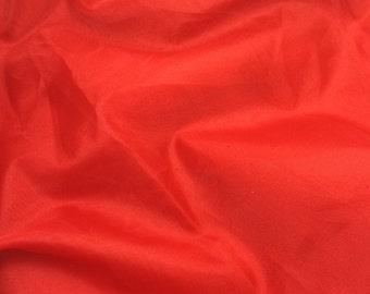 BRIGHT RED Silk Organza Fabric - 1/2 Yard