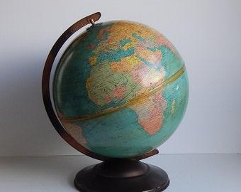 1940s 12 Inch Standard Globe by Replogle Globes / Desk Globe