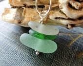 Sea Glass Beach Glass Cairn Necklace / Boho / Minimalist / Organic Jewelry / Sterling Silver / Beach Jewelry / Madison Gallery / Etsy / OOAK