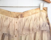 eco dyed silk skirt altered couture plus size