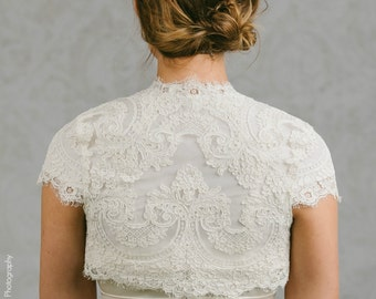Modest Bridal Bolero - Modest Wedding Gown Topper - Modest Bolero - MIllicent