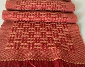 Handwoven Scarf in Merino Wool and Tussah Silk by Frederick Avenue