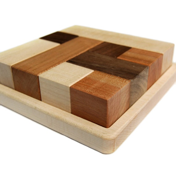 Wood Block Puzzle ~ Block puzzle toy by littlesaplingtoys on etsy