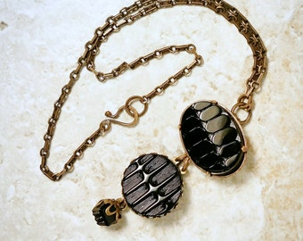 Three Victorian Buttons Necklace