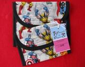 Marvel Comics Superheros Reusable Lunch Bag Set of 2 - Snack and Sandwich Size