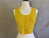 Vintage 50s Yellow Cropped Vest