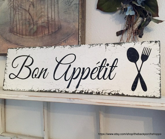 Bon Appetit French Signs Kitchen Signs Bon Appetit Signs
