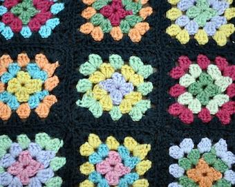 Granny square wool small cover